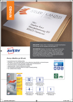 Avery A5 labels produktblad