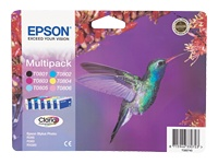 Bl�kpatroner C13T08074030 / C13T08074010 value kit 6 stk. original Epson