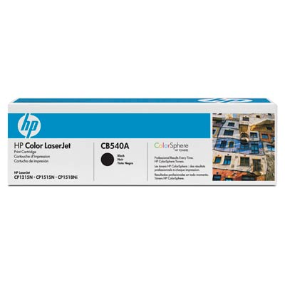 HP 125A, CB540A sort tonerpatron, original HP (2200s)