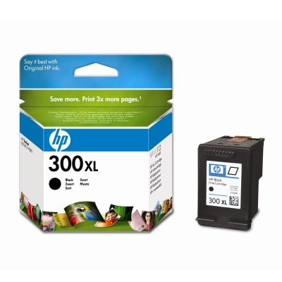 HP CC641EE Sort blækpatron nr. 300XL, original (600s)