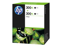Blækpatroner HP nr. 300XL sort Twin Pack D8J43AE Original