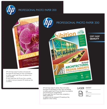 A4 HP Professional Glossy Laser Photo Papir CG966A 100ark (200g)