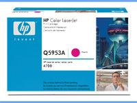 Q5953A magenta toner Color Laserjet 4700, original HP(10000s)