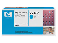 Q6471A cyan toner Color Laserjet 3600, original HP (4000s)