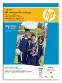 A4 HP Q8698A Advanced Glossy Photo Paper 50ark (250gsm)