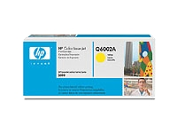Q6002A gul toner Color LJ 1600/2600/2605, original HP (2000s)