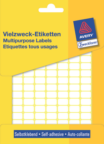 Avery 3306 Labels/Etiketter, hvide All-round 13x8 stor pakke 3712stk.