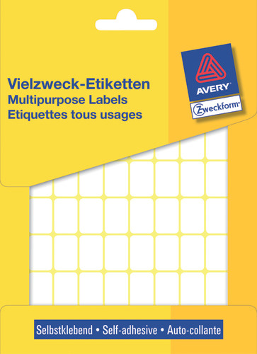 Avery 3312 Labels/Etiketter, hvide All-round 12x18 stor pakke 1800stk.