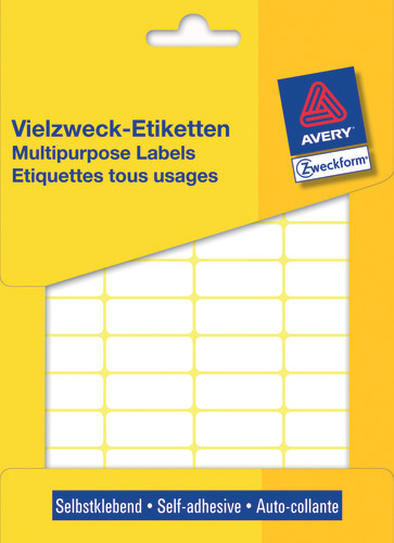 Avery 3319 Labels/Etiketter, hvide All-round 29x18 stor pakke 960stk.