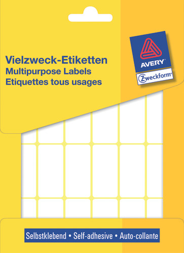 Avery 3324 Labels/Etiketter, hvide All-round 38x18 stor pakke 648stk.