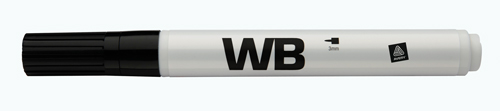 Avery WBBK Whiteboard Marker, Sort rund spids 3mm