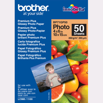 Brother 10x15 Glossy Inkjet Fotopapir BP71GP50 260g (50ark)