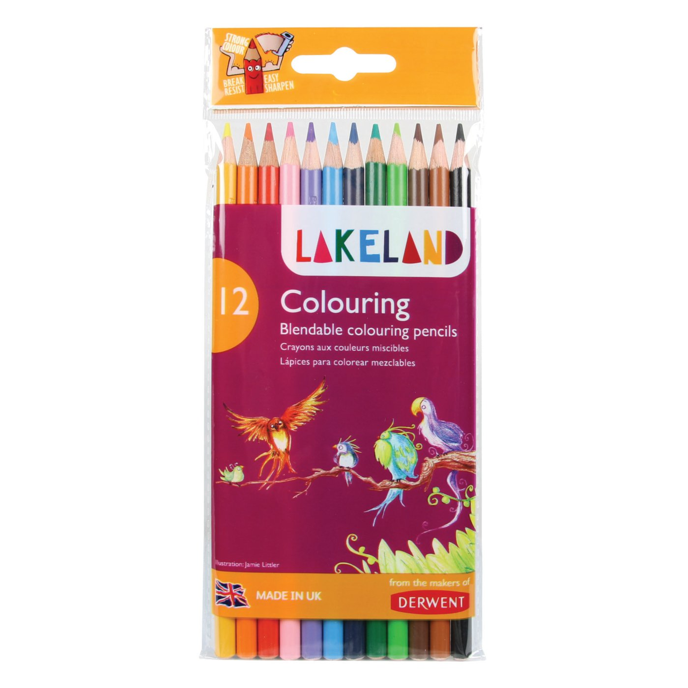 Farveblyanter Derwent Lakeland Colouring, 12stk. 33356