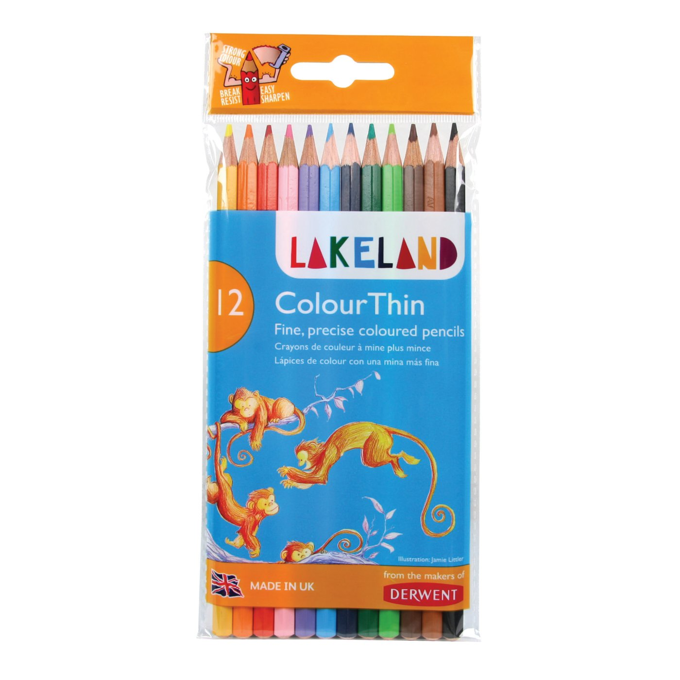 Farveblyanter Derwent Lakeland Colour Thin 12stk. 700077