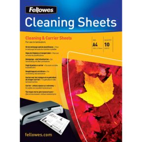 Fellowes 53206 Cleaning & Carrier sheets for A4 Laminator (10 ark)
