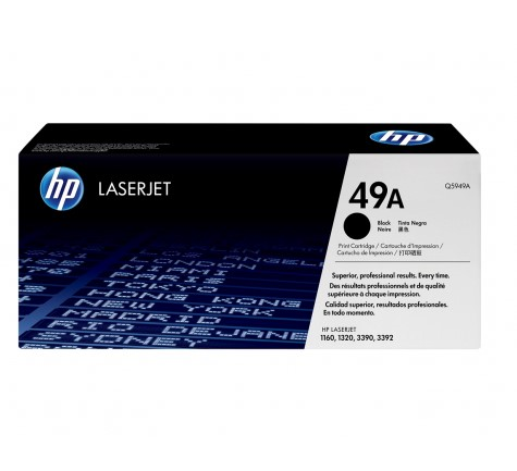 Q5949A sort lasertoner, original HP(2500 sider)