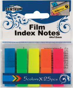 Indeksfaner 45*12mm 5 neonfarver ass. varenr. 80408, 72pk.