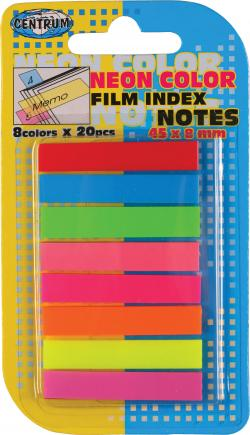 Film Index notes 8 farver 45*8mm ass varenr. 83504, 48pk.