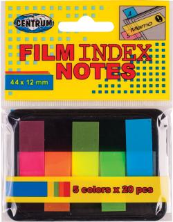 Film Index notes 5 farver 44*12mm ass varenr. 83507, 72pk.