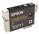 C13T071140 sort blækpatron T711, original Epson (7,4ml)