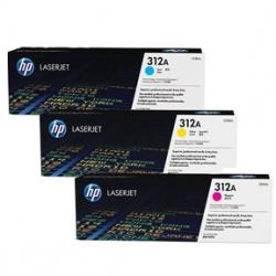Tonerpatron HP 312A CYM multipack, CF440AM, Original HP (2.700s)