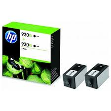 Blækpatroner HP nr. 920XL sort Twin Pack D8J47AE Original (2x1.200s)