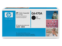 Q6470A sort toner Color Laserjet, original HP(6000s)