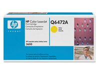 Q6472A gul toner Color Laserjet 3600, original HP (4000s)