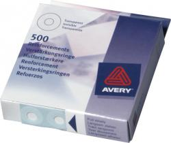 Avery 43-510 Hulforstaerkere. hvide, diameter 13mm Dispenser med 250 stk.