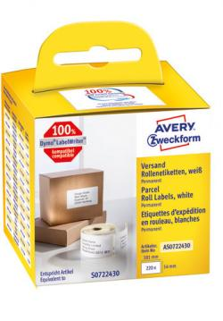 Avery Labelrulle, Shipping, 101x54mm, AS0722430, 220stk