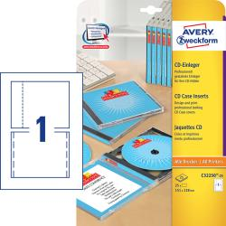 Avery C32250-25 CD Inserts for og bag  25 ark