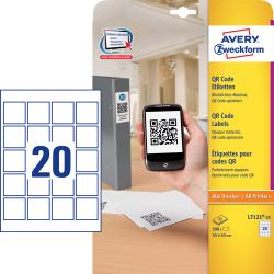 Avery L7121-25 QR Code Product labels blockout, 45 x 45mm 25Ark , 20 pr. ark