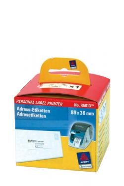 Avery R5013 Adresse etiketter, permanent 280 Pr. Rulle 89 x 36 1 Rulle