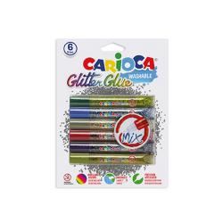 CARIOCA glitterlim 6 x 10,5ml, Multicolor