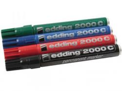 Edding 2000C-4 Permanent marker, rund spids 1,5-3mm, 4ass (10stk.)