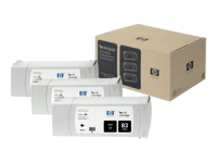 Blækpatroner HP 3x No83  UV sort DSJ5500 MultiPak, C5072A