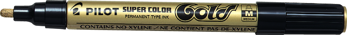 Marker Super Color Medium 4,5mm guld, Pilot SC-G-M,12stk