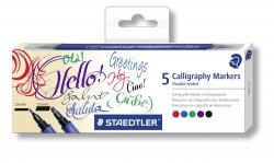 Kalligrafipen Duo 2,0+3,5mm ass (5), Staedtler 3002 C5