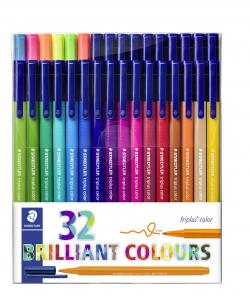 Fiberpen Triplus Color 1,0mm ass (32), Staedtler 323 TB32